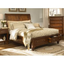E.KING Panel Storage Bed