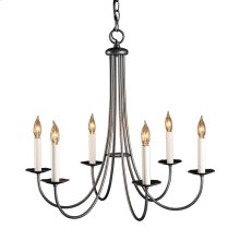 Simple Sweep 6 Arm Chandelier