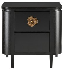 Briallen Black Nightstand