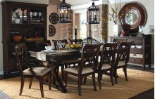 Thatcher 7 Piece Trestle Table Set