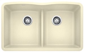 Blanco Diamond Equal Double Bowl With Low-divide - Biscuit