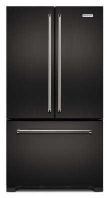 22 cu. ft. 36-Inch Width Counter Depth French Door Refrigerator with Interior Dispense - Black Stainless