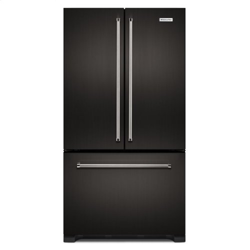 22 cu. ft. 36-Inch Width Counter Depth French Door Refrigerator with Interior Dispense - Black Stainless Steel with PrintShield™ Finish