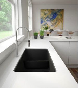 Blanco Precis Reversible 1-3/4 Bowl With Low Divide - Anthracite