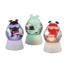 Lighted Character Globe Mini Shimmer (3 asstd).