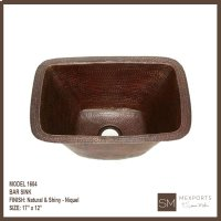 1604 Rectangular Bar Sink Product Image