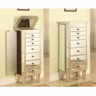 """Mirrored Jewelry Armoire with """"Silver"""" Wood Product Image"""