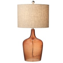 Amber Crackle Glass Lamp. 150W Max.