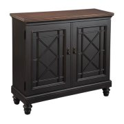 Black Chest with Burnished Brown Top Product Image