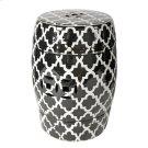 Patterned Stool,Black/White Product Image
