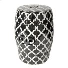Patterned Stool,Black/White Product Image