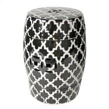 Patterned Stool,Black/White