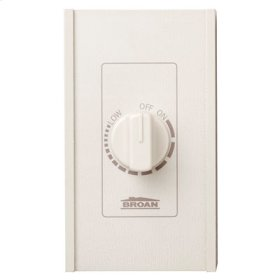 Speed Control, Variable Speed, Ivory, 277V, 6 amps