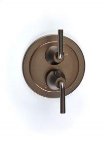Taos Dual-control Thermostatic Valve with Volume Control Trim - Bronze