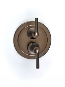 Taos Dual-control Thermostatic Valve with Volume Control Trim - Bronze