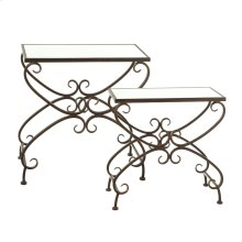 Rectangle Scroll Side Table set/2.