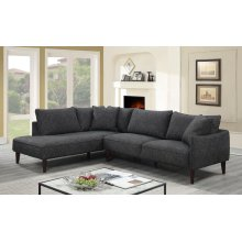 Asher Charcoal Sectional with LHF Chaise, U5205