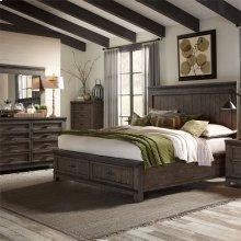 King California Storage Bed, Dresser & Mirror