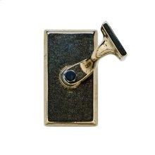 Rectangular Handrail Bracket White Bronze Brushed