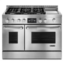 "Pro-Style® 48"" Gas Range with Griddle and MultiMode® Convection"