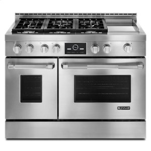 "Jenn-AirPro-Style® 48"" Gas Range with Griddle and MultiMode® Convection"