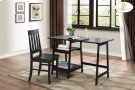 Writing Desk and Chair, Black Table: 47.25 x 23.5 x 29.75H Chair: 17.25 x 18 x 37H Product Image