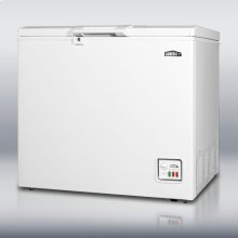ENERGY STAR listed chest freezer with 6.4 cu.ft. capacity and lock