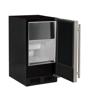 "Marvel15"" ADA Height Clear Ice Machine with Arctic Illuminice Lighting - Gravity Drain - Solid Stainless Steel Door, Right Hinge"