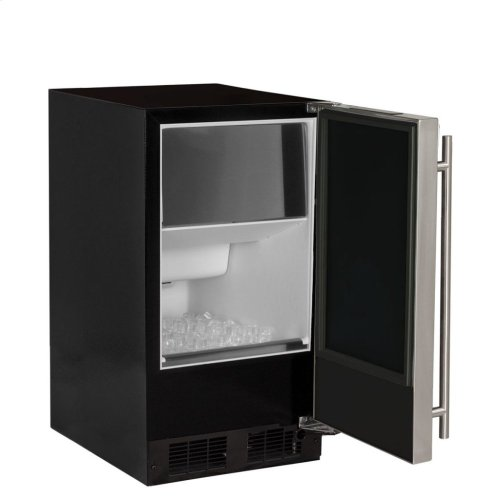 "15"" ADA Height Clear Ice Machine with Arctic Illuminice Lighting - Factory Installed Pump - Solid Stainless Steel Door, Left Hinge"