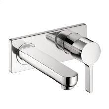 Chrome Metris S Wall-Mounted Single-Handle Faucet Trim
