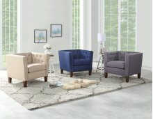 """Campbell Accent Chair - Blue 35"""" x 30"""" x 30"""""""