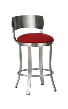 Baltimore BSS507H26S Stainless Steel Swivel Back No Arms Bar Stool