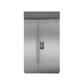 """48"""" Built-In Side-by-Side Refrigerator/Freezer with Dispenser -[ Floor Model / Obslolete - No Box - No Warranty - All Sales Final ] Takoma Park, Md. First come, First serve."""