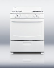 White Pearl gas range with electronic ignition and four sealed burners