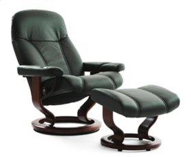 Stressless Diplomat Small Recliner and Ottoman