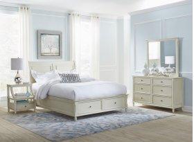Avignon Ivory Queen Storage Bed