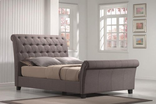 Innsbruck - King Linen Mineral Upholstered Bed
