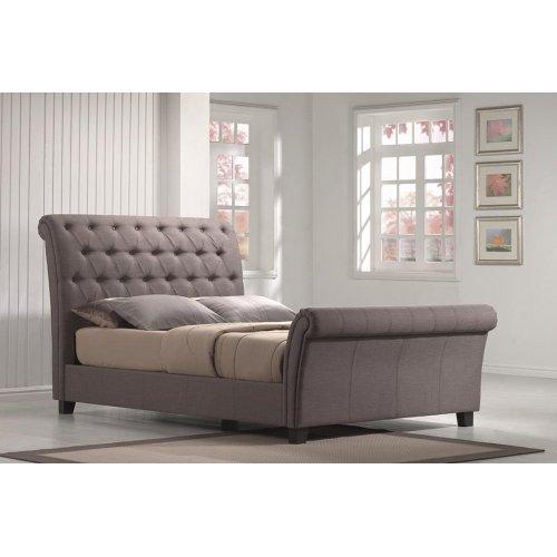 Innsbruck - King Linen Mineral Upholstered Bed