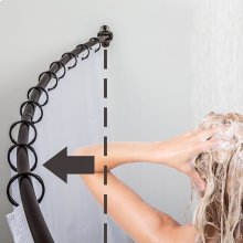 "Curved Shower Rod, Fits 60"" - 72"" Openings. Finish: Brushed Oil Rubbed Bronze"