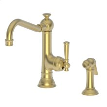 Satin Brass - PVD Single Handle Kitchen Faucet with Side Spray