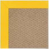 Creative Concepts-Raffia Canvas Sunflower Yellow Machine Tufted Rugs