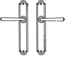 Additional Multipoint System Set - Patio trim set with inside turn piece w/o mechanism