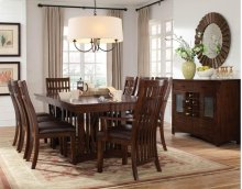 STANDARD 13626-13624-13625 Artisan Trestle 18 Inch Leaf Table, 6 Side Chairs And 2 Arm Chairs