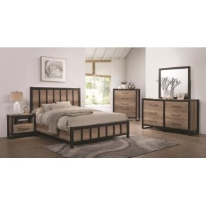 Edgewater Industrial Weathered Oak Full Five-piece Set