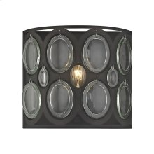 Serai 1-Light Vanity Sconce in Oil Rubbed Bronze with Clear Soda Bottle Glass