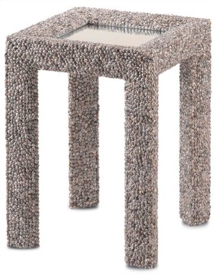 Batad Shell Accent Table - 25.75h x 18.75w x 18.75d