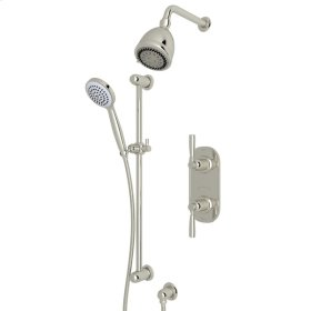 Polished Nickel Holborn Thermostatic Shower Package with Holborn Metal Lever