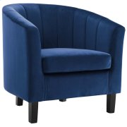 Prospect Channel Tufted Upholstered Velvet Armchair in Navy Product Image