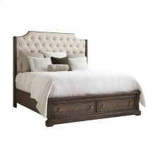 Wethersfield Estate Upholstered Storage Bed - Granite / Queen