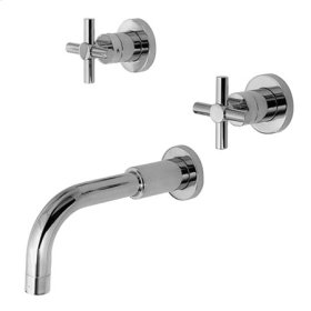 Aged Brass Wall Mount Tub Faucet